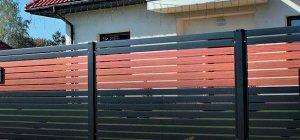 dwu kolorowe ogrodzenie